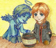 Fred and George - Guardian Angel of Tricksters by Garnet-Heart