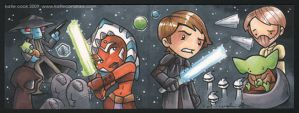 clone wars 2 panel sketch card by katiecandraw