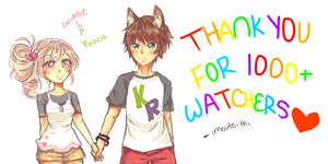 Thank you for 1000 watchers!! by Imouto-Thi