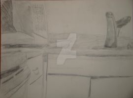 And Then I Drew a Kitchen for Homework by AnnamaeTezuka