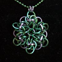 Green and Black Ice Large Pendant by Ichi-Black