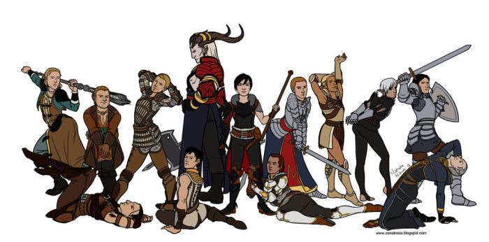 Strong Female Pose - Dragon Age by Ddriana
