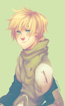 + Commission : Ventus with a ponytail + by taka-maple