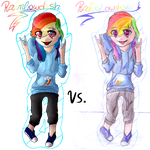 Digital vs. Traditional by MissLayira