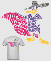 Darkwing Duck Typography Shirt by Enlightenup23