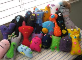 All of my plushies i have made by K-n-B-creations