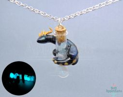 Tumblr Giveaway! Glow in the Dark Dragon Necklace by Bon-AppetEats