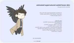 animated supernatural castiel hover skin by ithermi