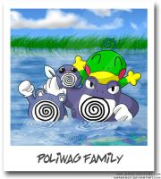 Poliwag Family Photo by WarBandit