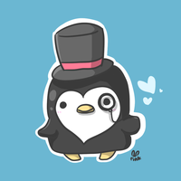 mr. penguin by pinkbunnii