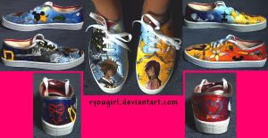 Kingdom Hearts Themed Shoes by RyouGirl