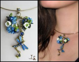 Spring dragonfly pendant by JSjewelry