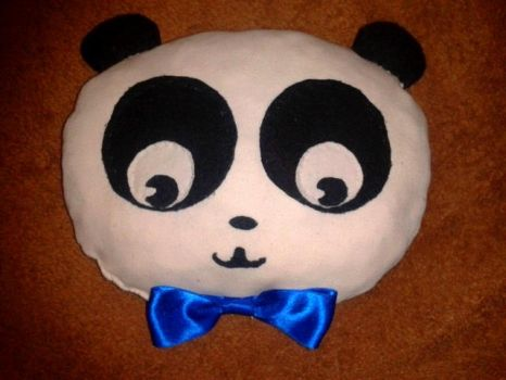 Panda-san pillow plushie by MiniRockeuse