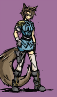 [=] Police Wolf Lass [=] by Endless-warr