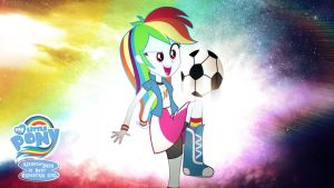 Rainbow Dash is Best Equestria Girl HD Wallpaper by Jackardy