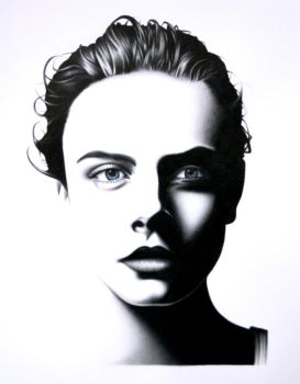 Cara Delevingne Portrait by CW-Posters