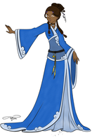 First DColor Katara by LordNobleheart