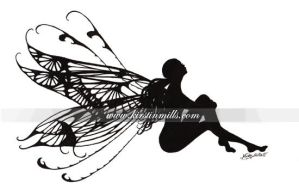 Silhouette Fairy by kirstinmills
