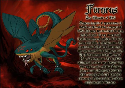 Forneus, sea monster of Hell by DoctorChevlong