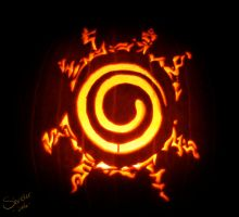 Naruto Seal Pumpkin by shriekerssj