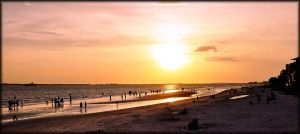 Evening At Ft. Myers Beach by TThealer56