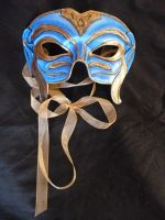 Ulmo - Water Leather Mask by emma-hobbit