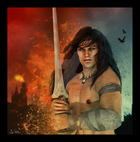 Atlas, The Barbarian by 0Snow-White0