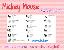 Mickey Mouse cursor set by MayteKr by MayteKr