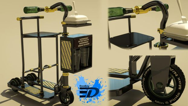 The Beer Scooter by Rooboy3D