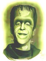 Herman Munster portrait by andypriceart