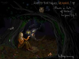 BDAY GIFT - The Autumn Fairies by DeBeginning