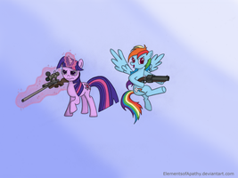 Team Sparkle and Dash by ElementsofApathy
