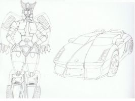 Autobot MetalPedal V2 Line Art by OnyxPen