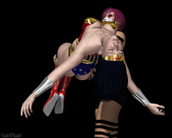 Wonder Woman Knocked Out and Carried by LordSnot