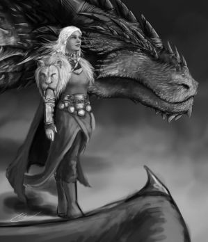 MotherofDragons WIP by CurtisWalkerWood