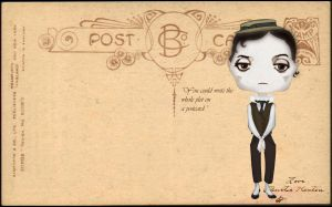 Buster Keaton chibi by Hloytheda