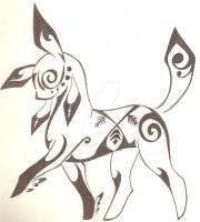 Tribal Glaceon by aiko137