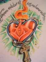 Sacred heart by chrisxart