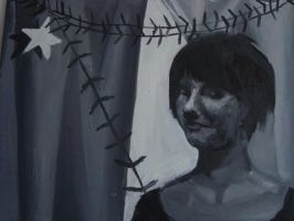 selfportrain with a star by knoppersa