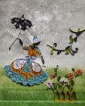 Quilling-Is that Mary Poppins in my Garden? by JyotiRaut