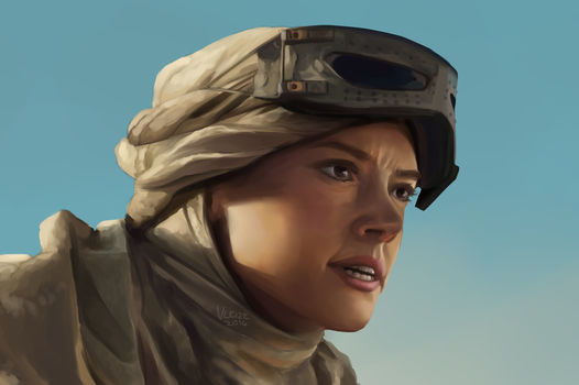 Screen Redraw: Rey by vleize