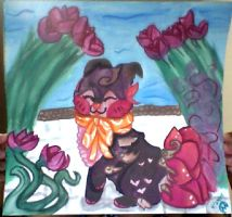 Sushi dogs: Rosea's Rose garden by misty-paws