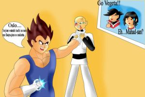 DBZ_Skyland: Vegeta Vs Oslo by SSJGarfield