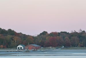 Calm Autumn On the Water, Sunset 3 by Miss-Tbones