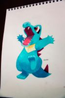 Totodile by NChicaGFX