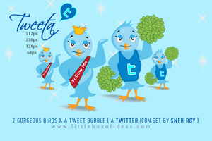 TWEETA A Free Twitter Icon Set by littleboxofideas