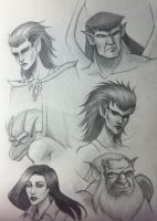 Gargoyles sketches by darktenshilight