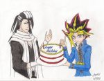 Happy Birthday From Byakuya and Yugi by Joevo94
