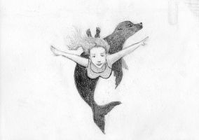 The Selkie and her skin. by FloraRedwood