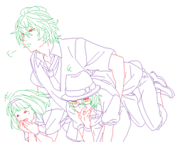 Lineart Utapri by Kani-Adventure